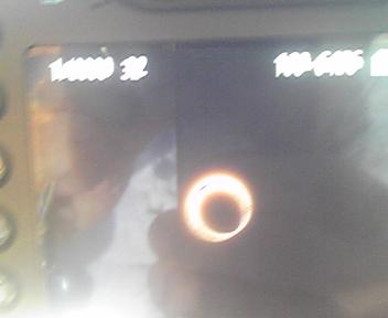 金環日食中